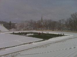Ohio Wesleyan lacrosse practice
