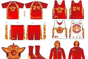 Red Army lacrosse Kit 3