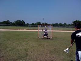 Sammy Latino, entering 7th grade, learning to play goalie. Kid was a natural