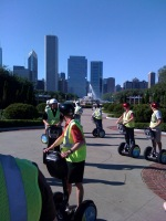 "A segway tour of Chicago, to familiarize myself with the city. ""They see me rollin'..."""