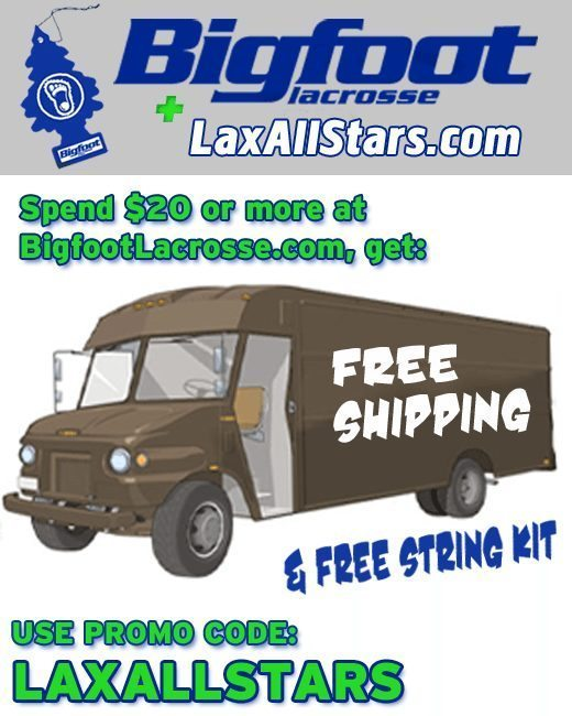Bigfoot Lacrosse Deal for Lax All Stars Readers
