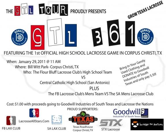 GTL361 grow texas lacrosse lax flyer