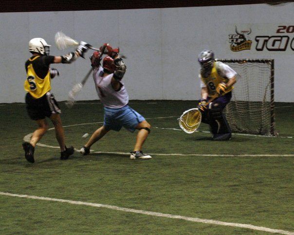 indoor lacrosse backbreaker shot