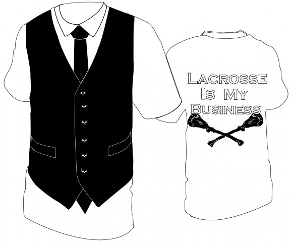 """Lacrosse is My Business"" lax t-shirt"