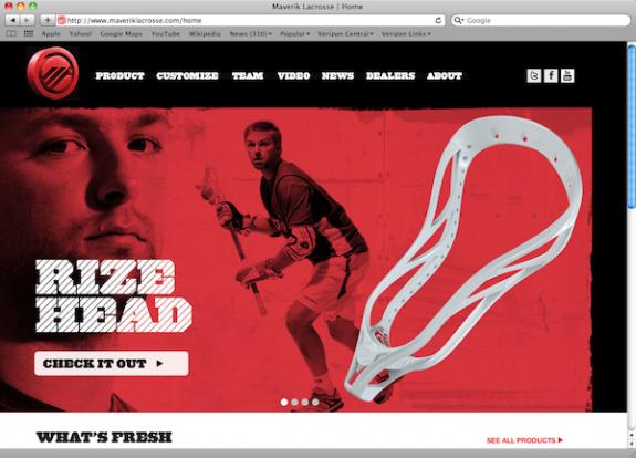 Maverik Lacrosse Website