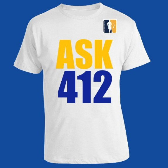 """Ask 412"" lax t-shirt"