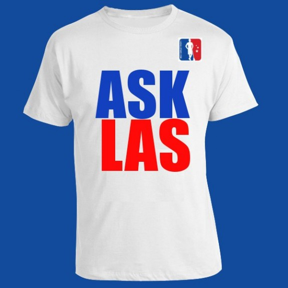"""Ask LAS"" lax t-shirt"