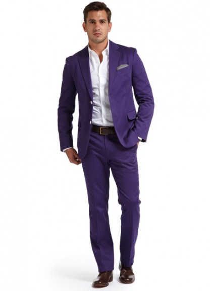 Bonobos Evanston Suit Pant purple cotton pants