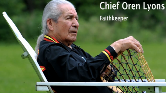 Chief Oren Lyons Faithkeeper Six Nations Lacrosse lax