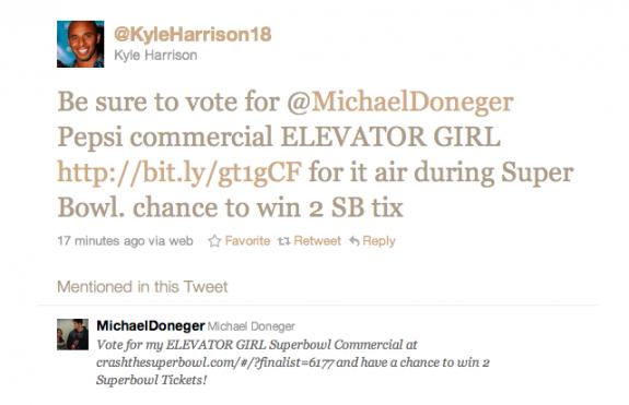 Kyle Harrison Michael donegar super bowl twitter