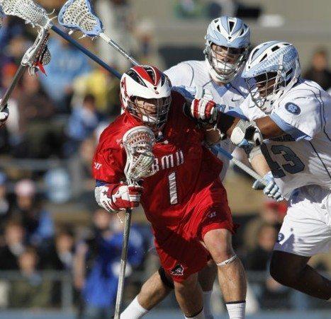 NCAA College Lacrosse Feb. 12, 2011 RMU UNC