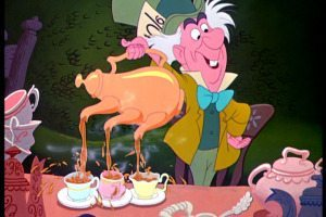 Mad Hatter tea pot 3 spout pour