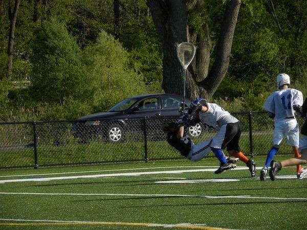 Danbury CT Lacrosse Hit