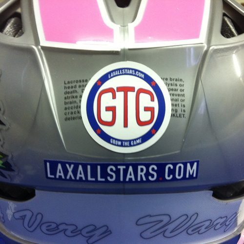 Grow The Game Lacrosse helmet sticker by Sticker Mule