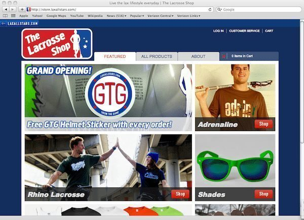 The Lacrosse Shop lifestyle & apparel gear