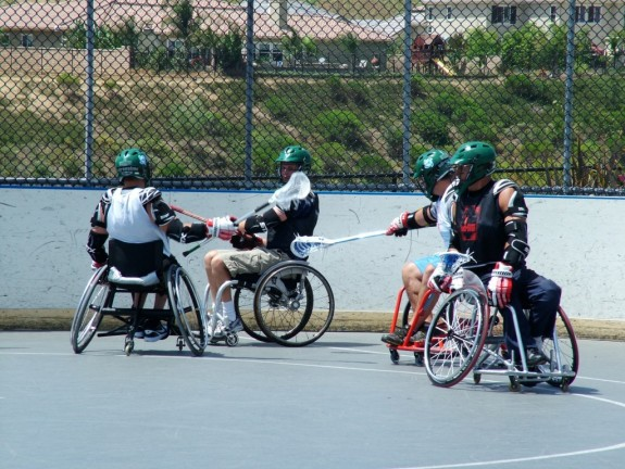 Wheelchair Lacrosse in action