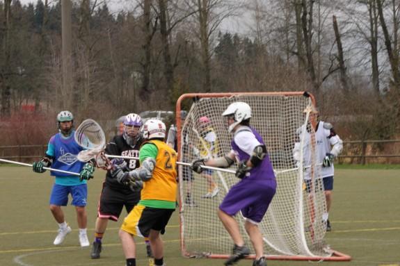 Tyler Lucas Memorial Scrimmage Lacrosse Jim Lucas in goal