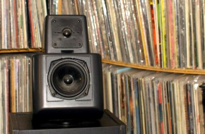 music monday record collection speaker
