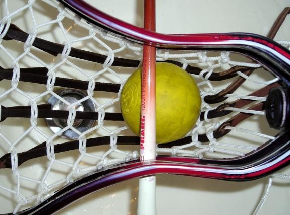 Gabe Kelley Wesleyan Lacrosse dye job traditional string