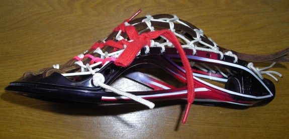 Gabe Kelley Wesleyan Lacrosse dye job traditional string