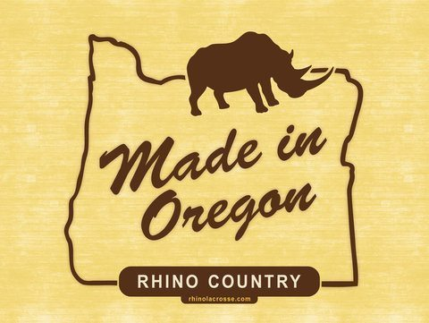Made In Oregon Rhino Lacrosse Poster