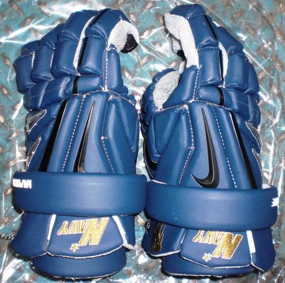 Navy Nike Lacrosse Gloves