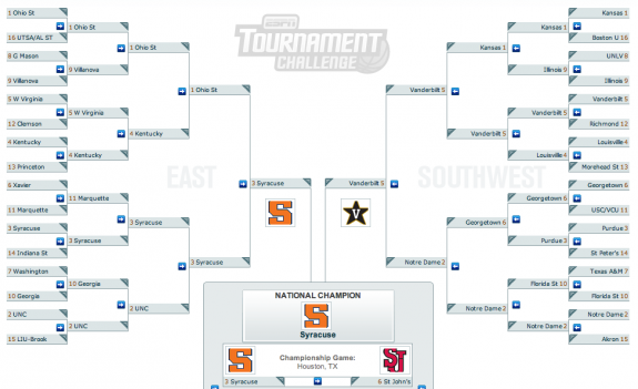 NCAA bracket basketball