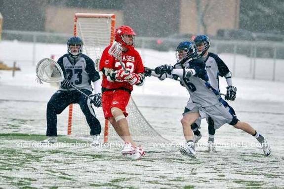 BYU Simon Fraser Lacrosse 2011 snow lax
