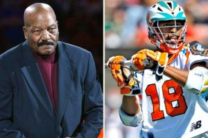 Jim Brown and Kyle Harrison lacrosse