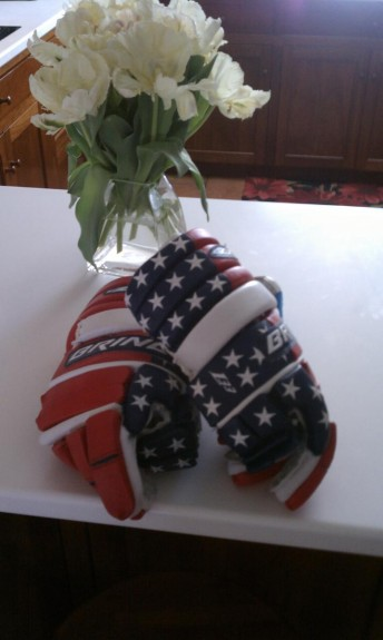 Brine Leather L33 stars and stripes lacrosse gloves new vintage