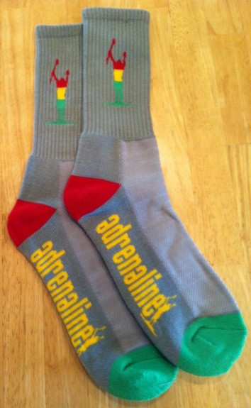 Adrenaline grey rasta socks