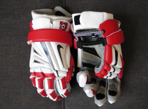 Nike Vapor Elite Lacrosse Gloves Wesleyan