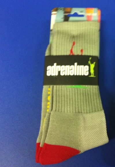 adrenaline sock grey LAS