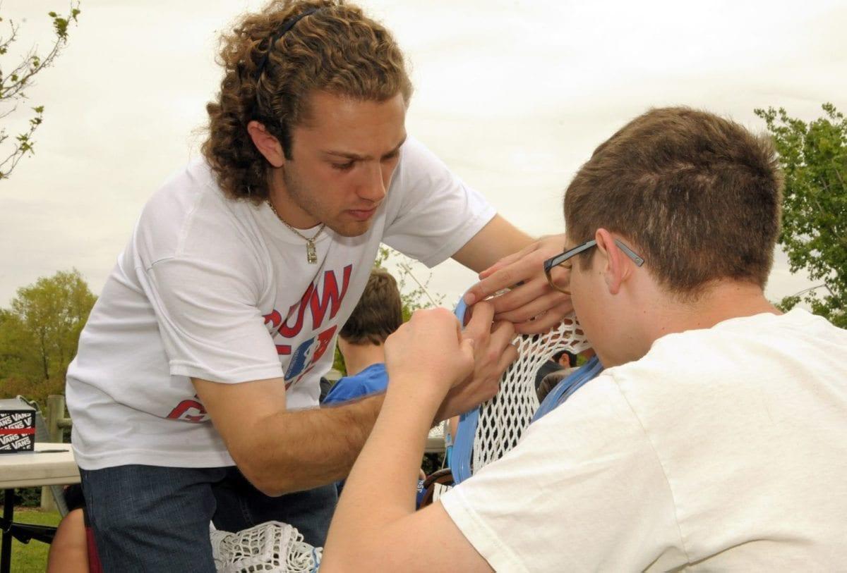 Davis Lacrosse Stringing Clinic Josh Rottman