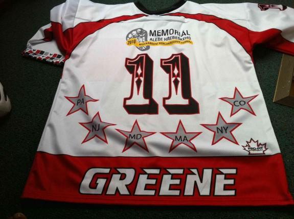 LC United box lacrosse pRague jersey sweater