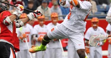 Maryland vs. Syracuse neon volt yellow lacrosse