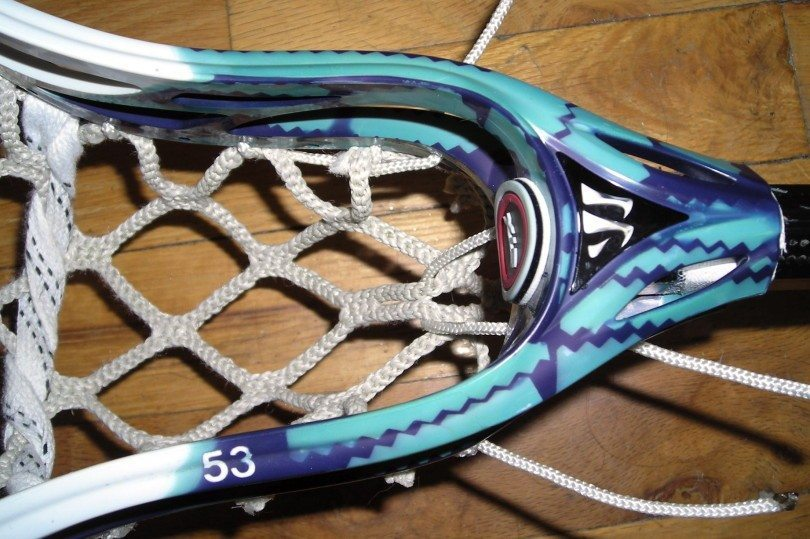 Warrior Evolution 3 dye job goal netting string job lax lacrosse