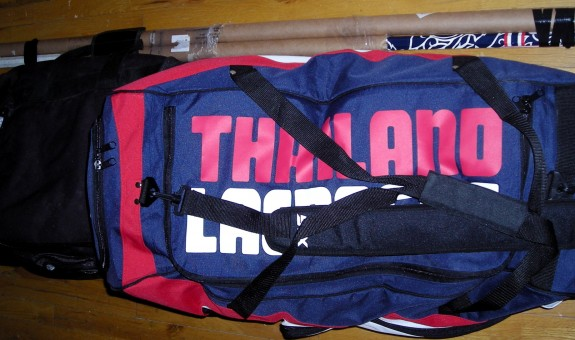 lacrosse bags packed for trip