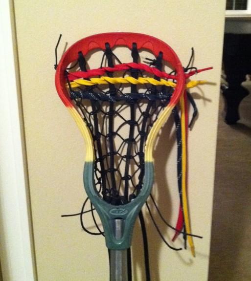 Rasta lacrosse dye traditional stringing lax