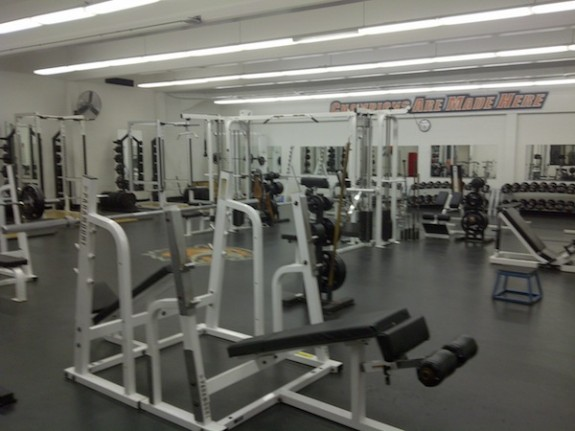 RIT weight room men's lacrosse