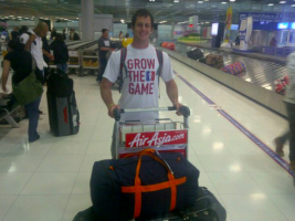 Dave Orgle arrived safely... (Nice T-Shirt)