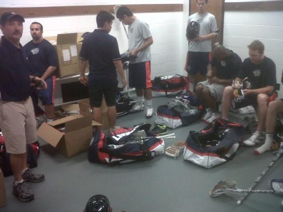 Pre-pre game meeting. Getting ready a bit!!!