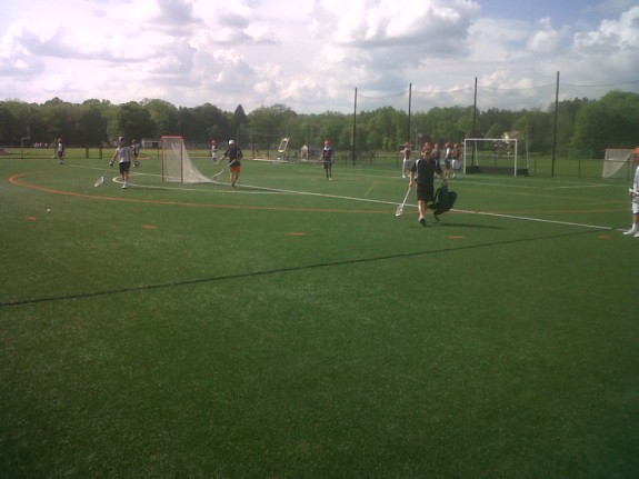 Suffield academy at practice.