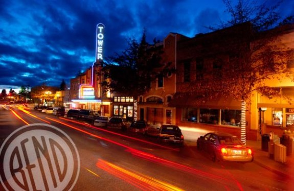Downtown Bend at night...