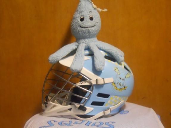 LI Squids Lacrosse helmet