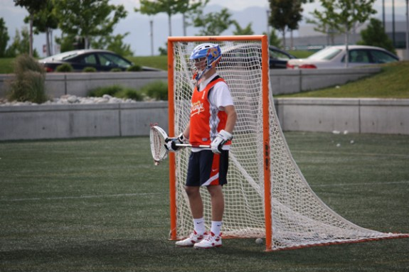 KC Orange Goalie Denver Lacrosse Team Camp