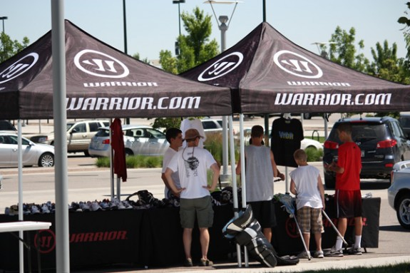 Denver Lacrosse Team Camp Warrior tent