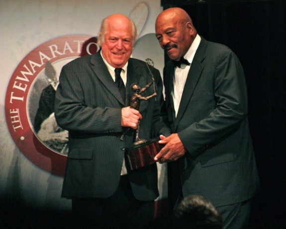 2011 Tewaaraton Award - Roy Simmons Jr. introduces Jim Brown
