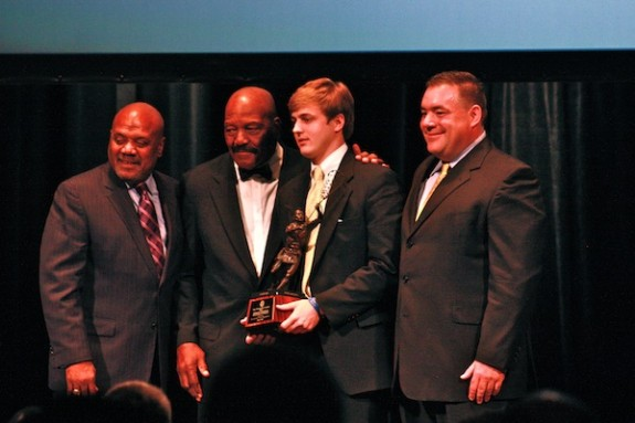 2011 Tewaaraton Award - Steele Stanwick, Jim Brown