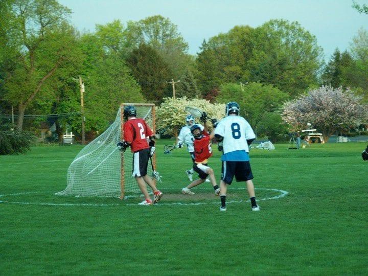 Penn State Berks goal lacrosse